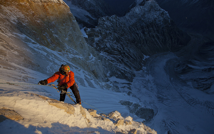 The North Face Meru Expedition, 2011 Jimmy Chin in MERU. Courtesy of Music Box Films. Photo by Renan Ozturk.