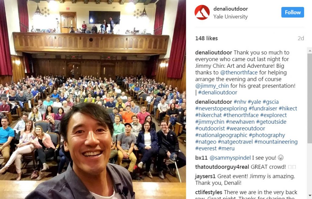 Jimmy Chin Art and Adventure by North Face at Yale University