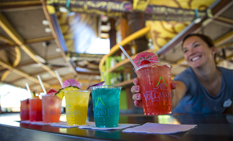 Universal Resorts Volcano Bay Cocktails